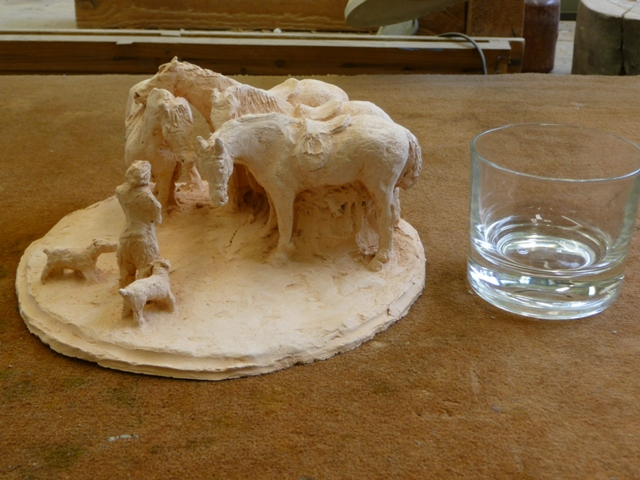 Yvan chevaux et verre 05 2012
